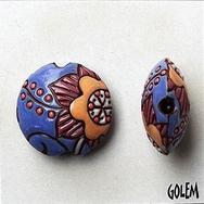 CLB-115-A-M Lavender Cotton Flower Lentil bead