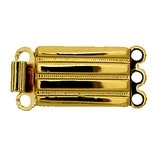 Claspgarten Gold clasp with 3 rows 12660n - 12x7.5mm