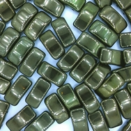 5 x Carrier Beads in Green Lustre (9x17mm)