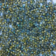 50 x 3mm faceted beads in Golden Rainbow