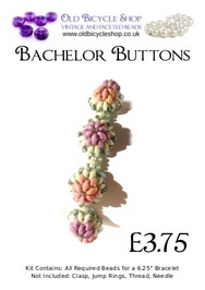 Bead Kit for Bachelor Buttons in Pastels