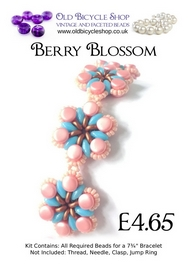 Bead Kit for Berry Blossom in Pink
