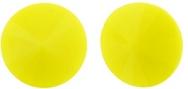 12mm Matubo Rivoli in Light Opaque Yellow