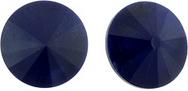12mm Matubo Rivoli in Opaque Blue