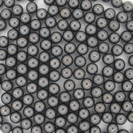 50 x 4mm round beads in Gunmetal with no holes