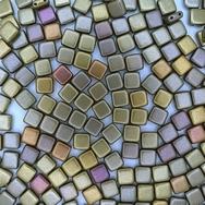 25 x 6mm Czech tiles in Metallic Mix
