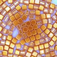 20 x 6mm Czech tiles in Crystal/Topaz