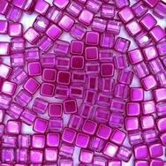 20 x 6mm Czech tiles in Crystal/Purple