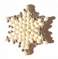 Pattern for Snowflake II pendant