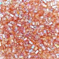 5g Half Tila beads in Orange Rainbow (HTL4576)