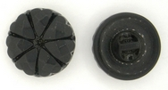B8 - 18mm Glass button in Black (vintage)
