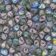 10 x  UFO beads in Peridot/Graphite Rainbow