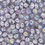 10 x UFO beads in Silver Rainbow