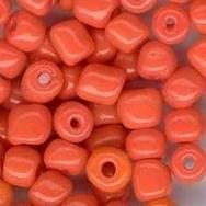 20 x 5–6mm Orange seed beads (1970s)