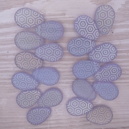 10 x Mauve drops with laser etched Hexagons (18x12mm)