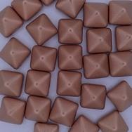 2 x 12mm pyramids in Vintage Copper