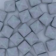 2 x 12mm pyramids in Matt Black Glittery Silver