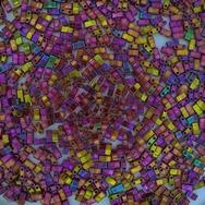 5g Half Tila beads in Rose Gold Lustre (HTL301)