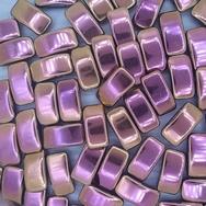 5 x Carrier Beads in Full Capri Rose (9x17mm)