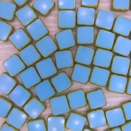 10 x 10mm table cut squares in Turquoise Picasso