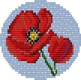 Bead kit for Poppy Haze Pendant by Erin Simonetti for IBW2020