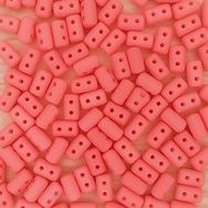 10g rulla beads in Matt Rose Silk