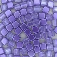 20 x 6mm Czech tiles in Crystal/Violet
