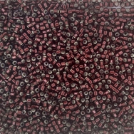 DB1685 - 5g Size 11/0 delicas in Silver lined Glazed Dark Cranberry