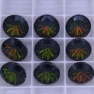 15mm German cabochon in Dark Iris
