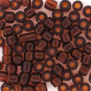 40 x 3mm cylinder beads in Brown (1950s)