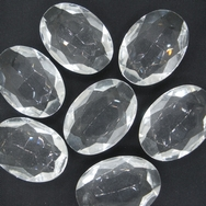 Cab54 - 25x18mm oval cabochon in Crystal (Vintage)
