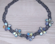 Bead kit for the Wallflower necklace in Graphite Rainbow