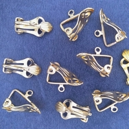 Pair of Clip on Earrings in Gold (UK Production)