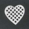 M68 Heart shaped 2.4cm platinium sieve