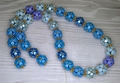 Selection of Blue and Gold beads for the necklace Selected Berries Harvest