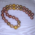 Metallic mix of beads for the necklace Selected Berries Harvest