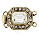 Claspgarten Old Gold clasp with 2 rows 13220 - 14x12mm