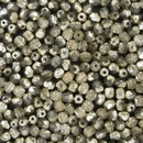 50 x 4mm faceted beads in Crystal/Pewter