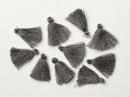 Pair of 1.7cm Cotton tassels in Dark Grey