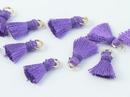 Pair of 1cm Cotton tassels in Violet