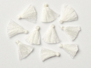 Pair of 1.7cm Cotton tassels in White