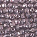 50 x 2.5mm faceted beads in Gunmetal