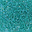 481 - 5g x 1.8mm Miyuki cubes in Opaque Turquoise Green AB