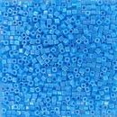 482 - 5g x 1.8mm Miyuki cubes in Opaque Turquoise Blue AB
