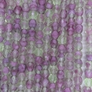 25 x 6mm faceted beads in Green and Fuchsia