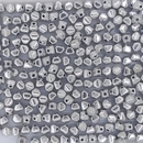 50 x 4mm pressed bicones in Silver