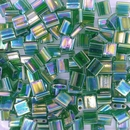 TL179 - 5g Tila beads in Transparent Green AB