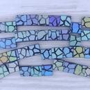 25 x Tila beads in Matt Black with Giraffe design