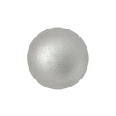 14mm Cabochon par Puca in Matt Aluminium Silver