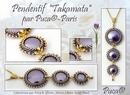 Takamata pendant by Les perles par Puca